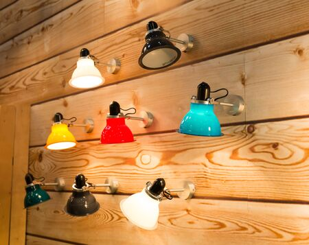 Set of various wall lamps Stock Photo