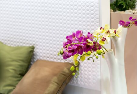 close up view: Decorative flowers in the bedroom