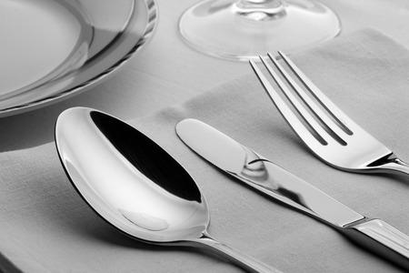 splendid: Closeup of splendid cooking utensils  on the table Stock Photo