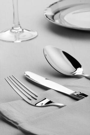 splendid: Close up of splendid cooking utensils  on the table Stock Photo