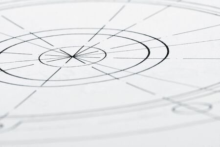 architecture design: Close up of architecture design drawing on the table