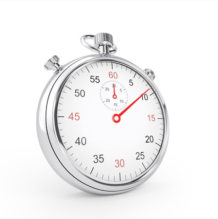 Chronomètre Sport isolé sur fond blanc Banque d'images