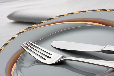 splendide: Vue de splendides ustensiles de cuisine sur la table Banque d'images