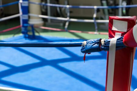ring: Empty ring geared-up for fight boxers
