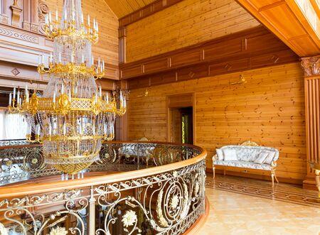 splendour: Novi Petrivtsi, Ukraine - May 27, 2015 Mezhigirya residence of ex-president of Ukraine Yanukovich. Luxury interior of the house Editorial