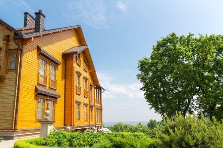 splendour: Novi Petrivtsi, Ukraine - May 27, 2015 Mezhigirya residence of ex-president of Ukraine Yanukovich. Khonka house Editorial