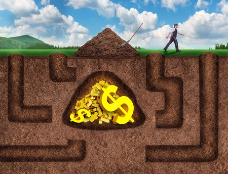 Businessman made many tunnels to get treasure underground, he gave up and went away