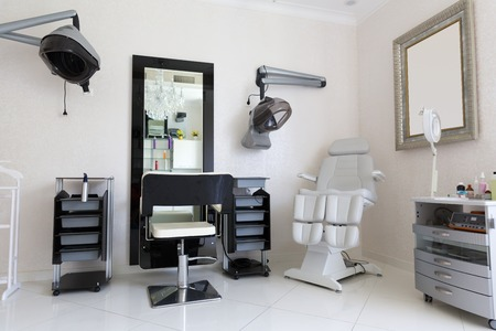Modern hairdresser's room interior with equipment Stock Photo
