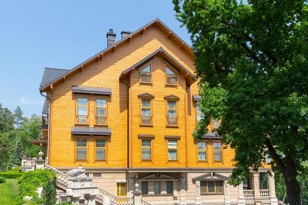 splendour: Novi Petrivtsi, Ukraine - May 27, 2015 Mezhigirya residence of ex-president of Ukraine Yanukovich. Khonka - the main house Editorial
