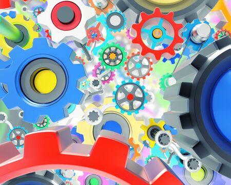 mechanism: Mechanism of lots of various colorful gears