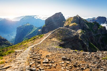 hiking path: Hiking path in mountains, Portugal