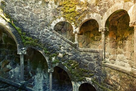 corridors: Ancient outdoor moss corridors with stairs