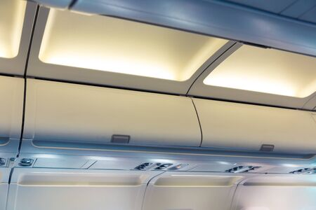 Abteile: Hand luggage compartments in the plane