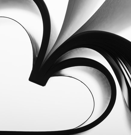 forming: Paper sheets forming abstract curves