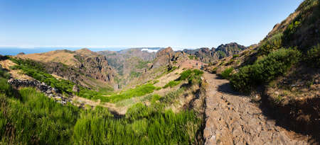 tourist feature: Beautiful landscape high in mountains, Portugal, Madeira