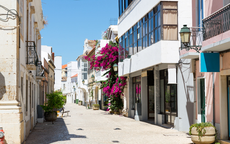 europeans: Narrow european street in a sunny day, Portugal