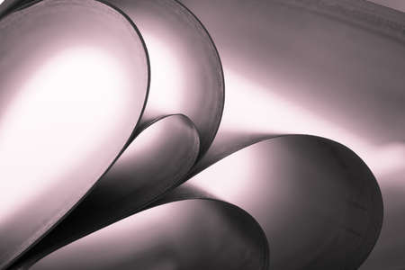 toned: Macro view of abstract paper curves. Toned in pink Stock Photo