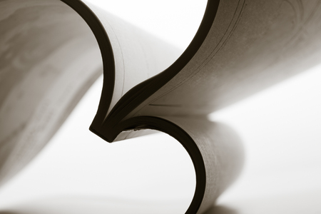 toned: Paper sheets forming abstract curves. Toned Stock Photo