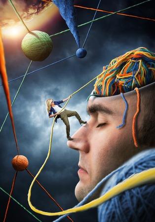 Confiant psychologue est de résoudre les problèmes des clients Banque d'images - 47997467