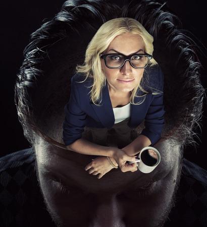 psiquico: Una situaci�n ps�quica dentro de la cabeza del hombre Foto de archivo