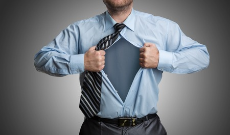 emptiness: Businessman with emptiness inside his shirt Stock Photo