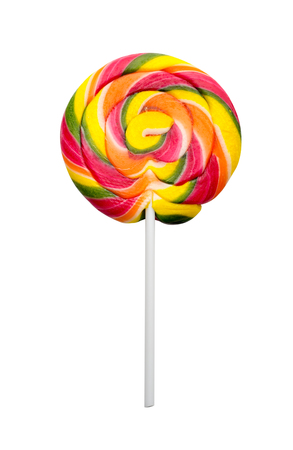 lollypop: Colorful sweet lollipop isolated on white background Stock Photo