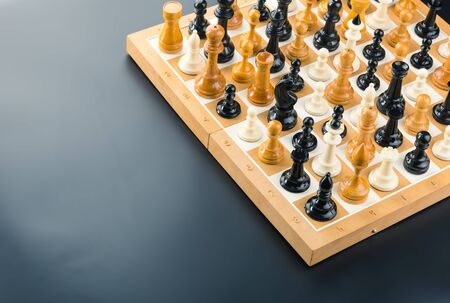 Many various chess figures standing on the board