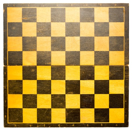 chess board: Wooden chess board in black and yellow