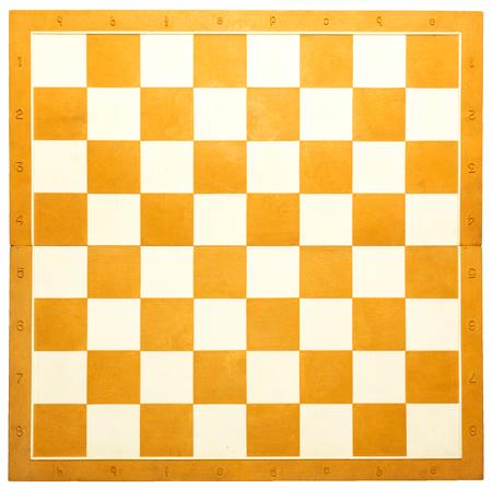 オレンジと白の木製チェス盤