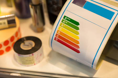 Energy efficiency tag for household appliances