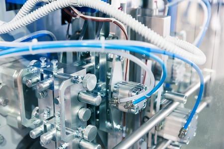 Modern pneudraulic mechanical tool close up Standard-Bild