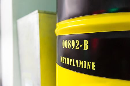 nitrogen: Big yellow barrel with methylamine