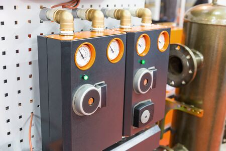 Side view of modular block of heating system