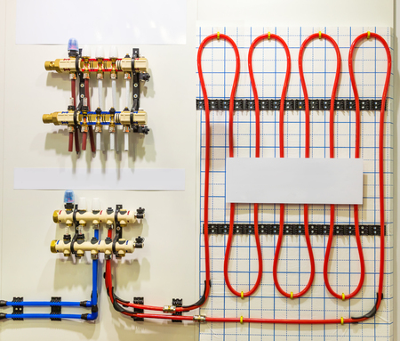 collector: Set of heating floor system with collector