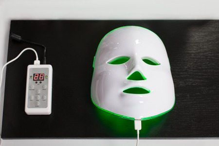 healing process: Light photodynamic rejuvenating mask for facial skin therapy.