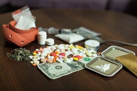 Narcotic dependence concept. Stock Photo