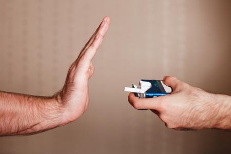 anti smoking: Stop smoking concept. Anti tobacco campaign Stock Photo