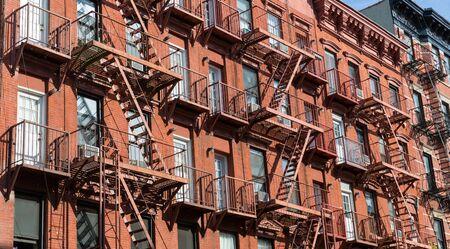 brick building: Facade of brick building. Stock Photo