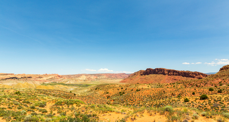 Valley landscape in Arches National Park Stock Photo