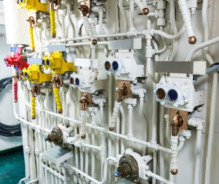 engine room: Engineering interior of military ship