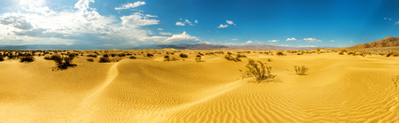 Panoramic view on Death Valley National Park Stock Photo