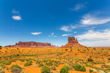 Scenic sandstones landscape at Monument Valley Stock Photo