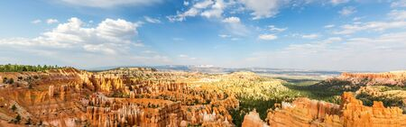 Panoramic top view on Bryce Canyon National Park Stock Photo
