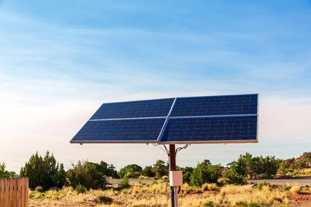 voltaic: Blue solar panels. Stock Photo
