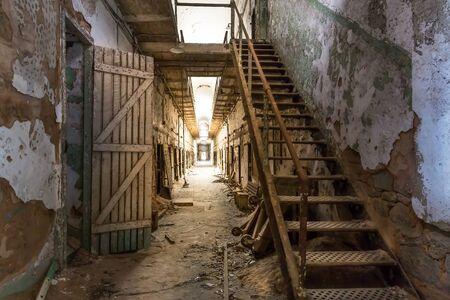incarceration: Old prison corridor