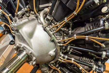 aluminum: Old aircraft engine