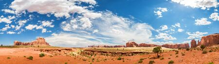 quiet scenery: Monument Valley National Tribal Park panorama