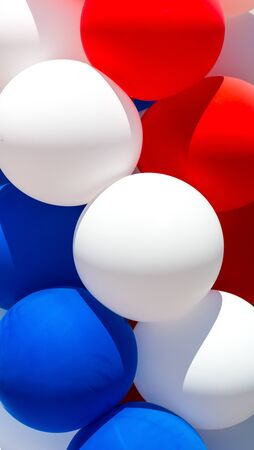 tricolor: Close up of tricolor balloons.