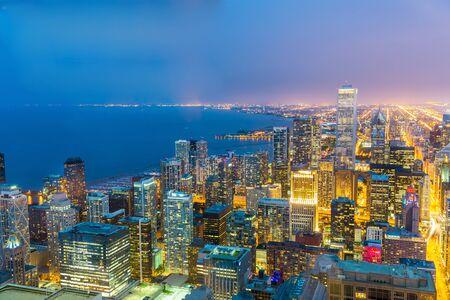 investment real state: Chicago paisaje urbano en la costa Foto de archivo