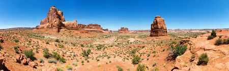 Landscape of  Arches National Park panoramic view
